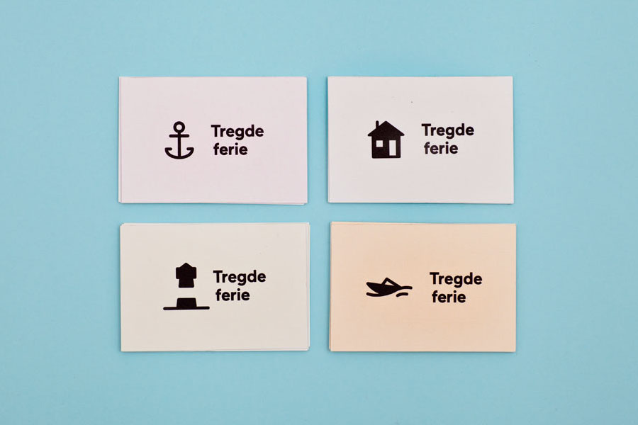 Logo, iconography and business cards designed by Neue for Norwegian coastal holiday resort Tregde Ferie