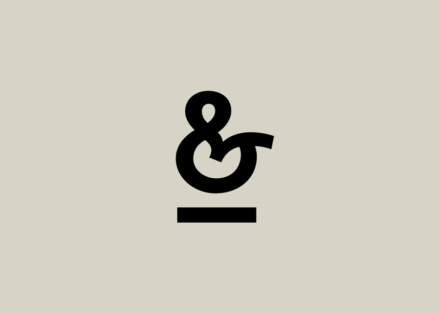 Logotype ampersand detail designed by Atipo for online fashion retailer Mi&Mall