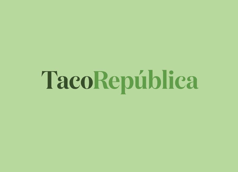 Serif logotype for Taco Republica by Bielke+Yang