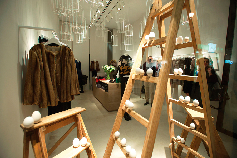 Interior of Spanish fashion boutique Les Orenetes