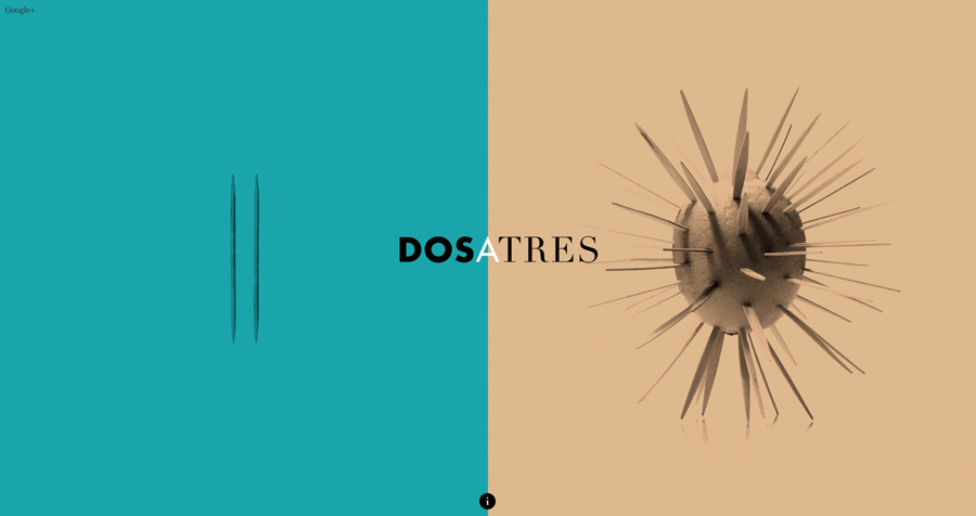 Website with contrasting imagery designed by Comite for business and brand communication consultancy Dosatres