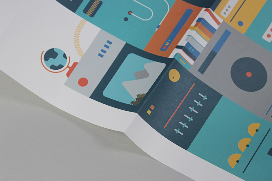 Print and illustration created by digital design and branding agency Fieldwork