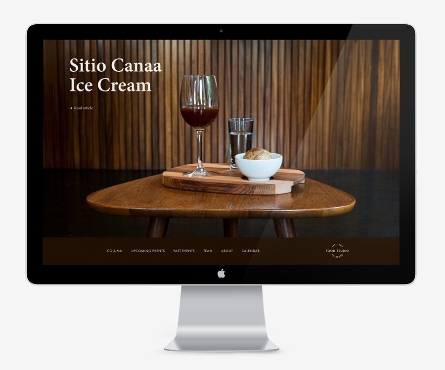 Logo and website designed by Bielke+Yang for Food Studio