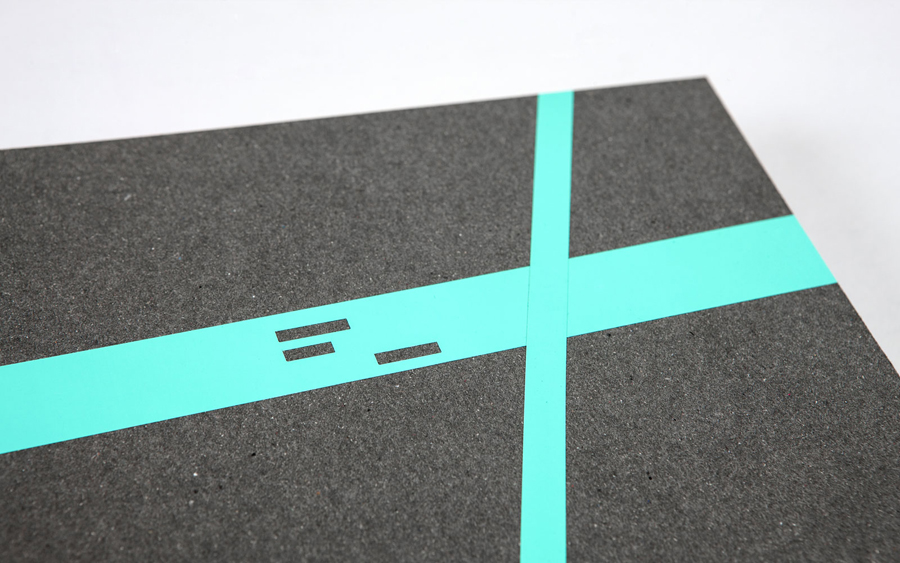 Notebook with fluorescent sticker detail designed by LSDK for Frederik Laux Photography