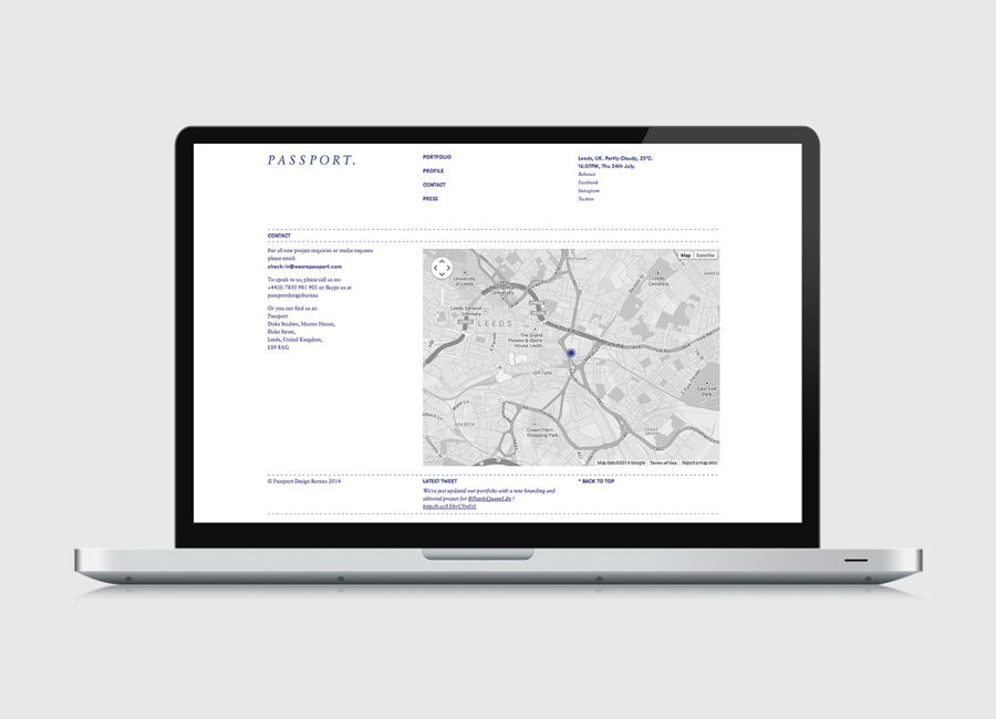 Responsive website for Leeds based design studio Passport