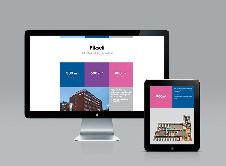 Logotype and website designed by Werklig for Helsinki office space Pikseli