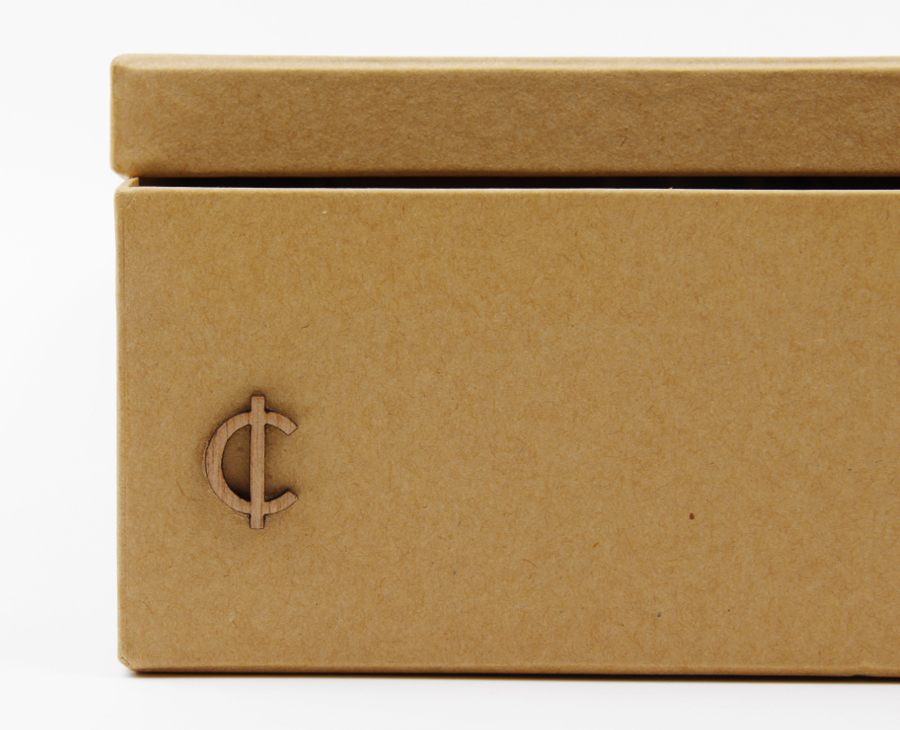 Logo on unbleached card box for craft retail site Cheap Labor designed by Sciencewerk