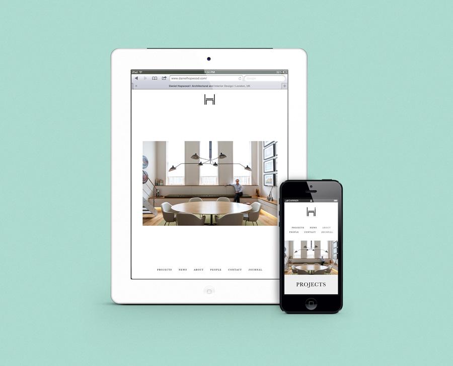 Logo and responsive website design by Two Times Elliott for Daniel Hopwood