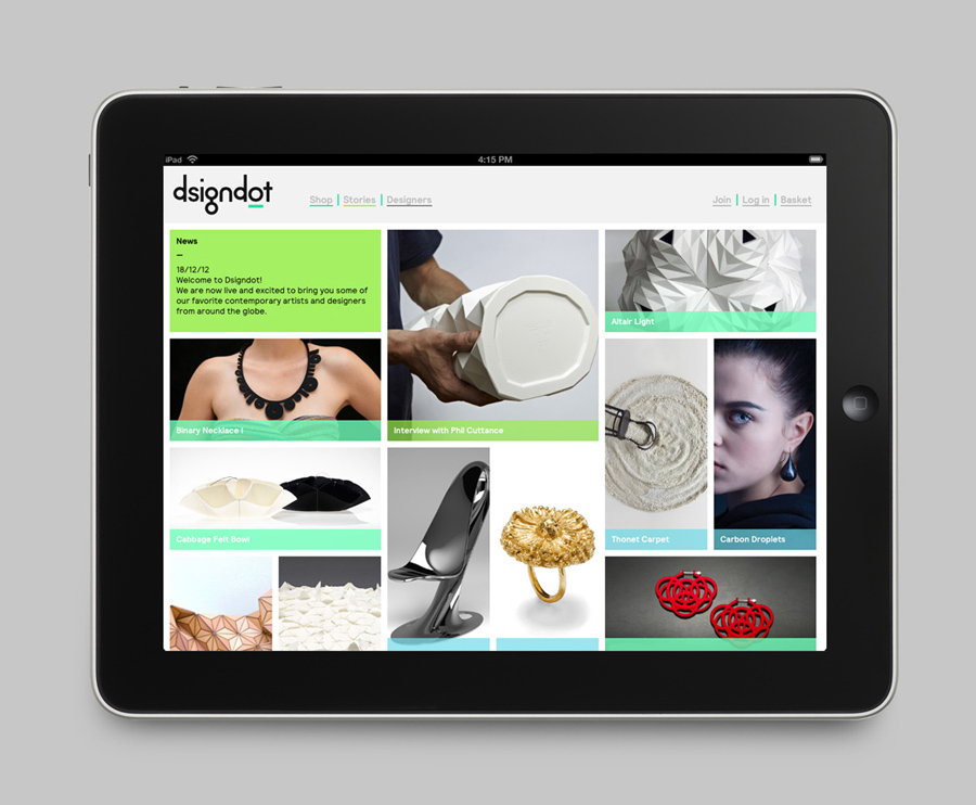 Logo and mobile website by Build for on-line furniture, fashion and jewellery store Dsigndot