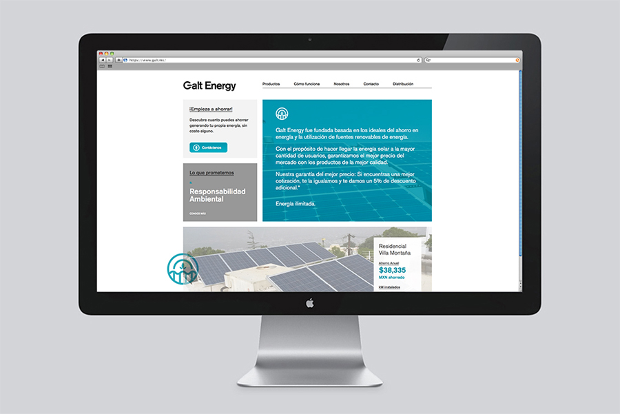 Responsive website for Galt Energy designed by Firmalt