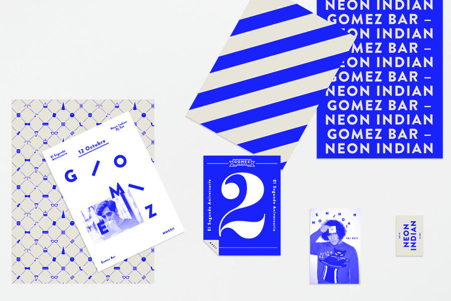 Logo and printed collateral by Savvy for San Pedro-based bar Gomez