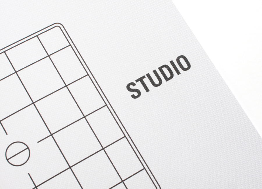 Print with surface emboss designed by Birch for British photographer Harry Watts