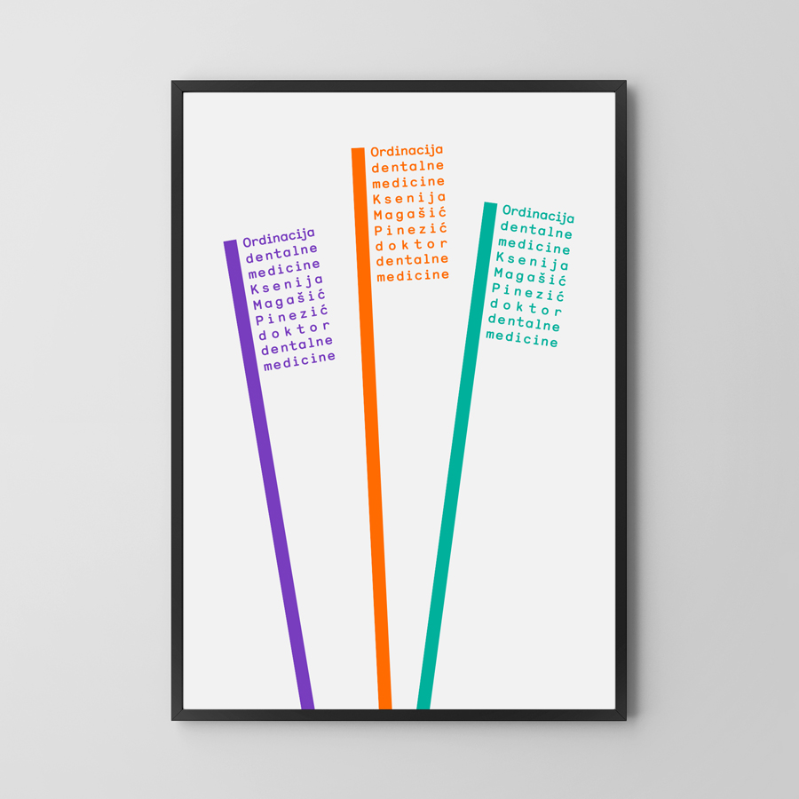 Print by Studio8585 for Croatian dental practice run by Dr. Ksenija Magašić Pinezić