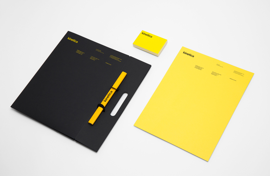 Logotype and stationery designed by Face for industrial design studio Kinetica