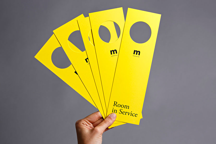 Door hangers created for Tel aviv hotel Mendeli Street designed by Koniak