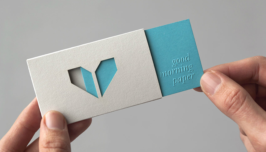 Logo and business card design with embossed detail by Atipo for Spanish production studio Minke
