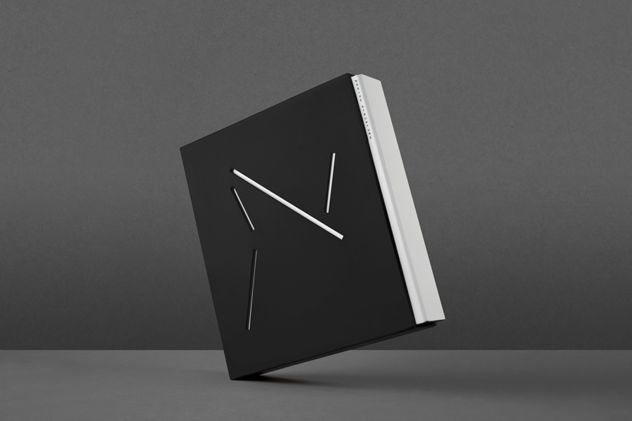 Die cut book sleeve for structural engineering firm Nosive Strukture designed by Bunch