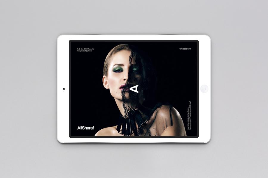 Website designed by Mash Creative for photographer Ali Sharaf