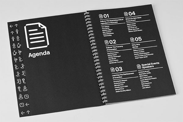 Print and iconography designed by Pentagram for not-for-profit, technology and entrepreneurship organisation Platform