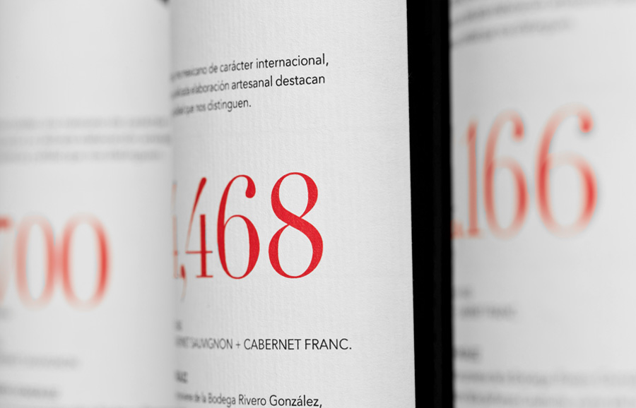 Wine label developed by Anagrama for Rivero Gonzalez