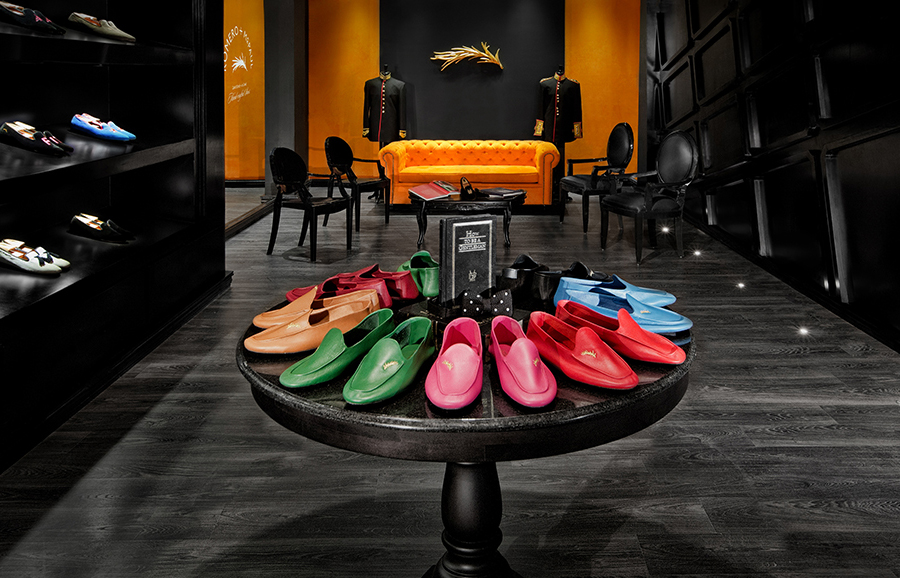 Shop interior for luxury slipper brand Romero+McPaul