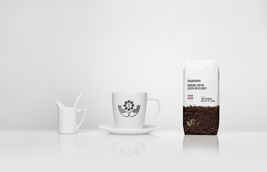 Brand identity and coffee packaging by Anagrama for Latin American premium goods exporter Salvatierra