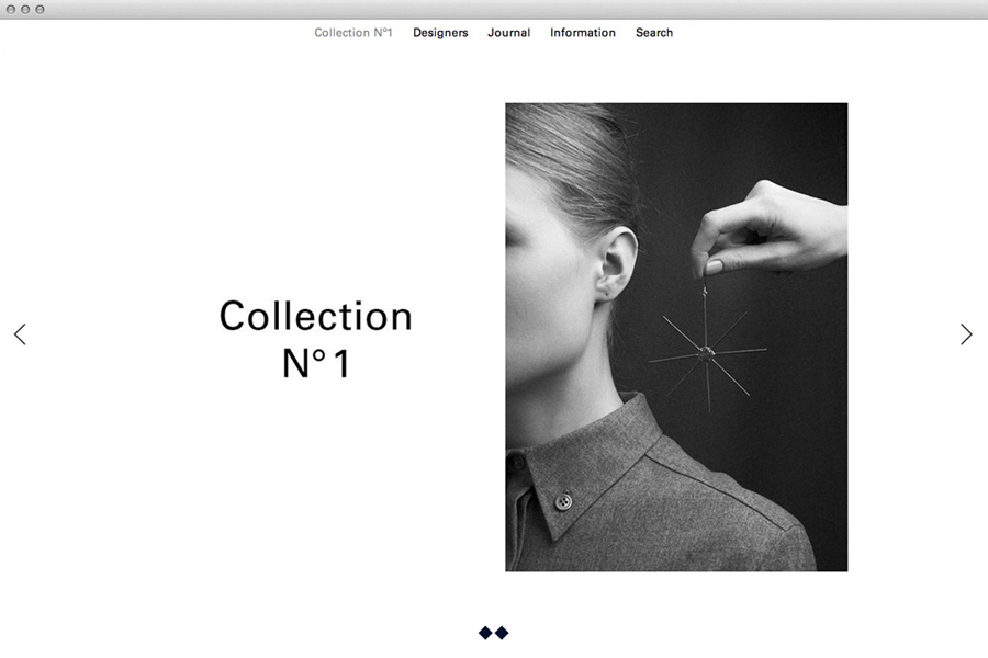 Website for boutique jewellery retailer Sancy & Regent designed by OK-RM