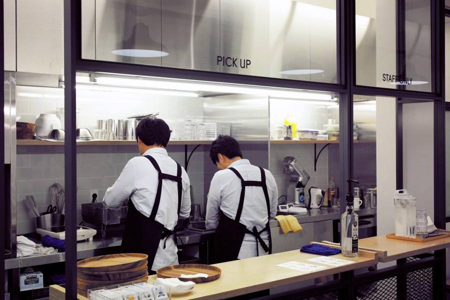Interior space designed by FHHH Friends for South Korean dessert restaurant Milk Lab