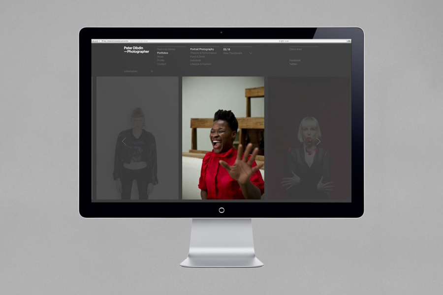 Website and visual identity designed by O Street for photographer Peter Dibdin