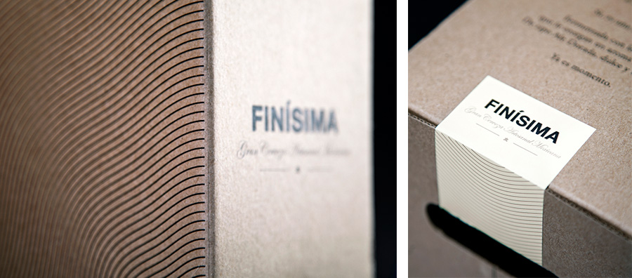 Uncoated unbleached corrugated card packaging with sticker detail designed by Savvy for premium craft beer label Finísima