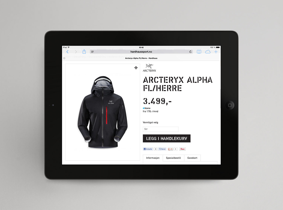 Logotype and website designed by Heydays for mountain sports retailer Hardhaus