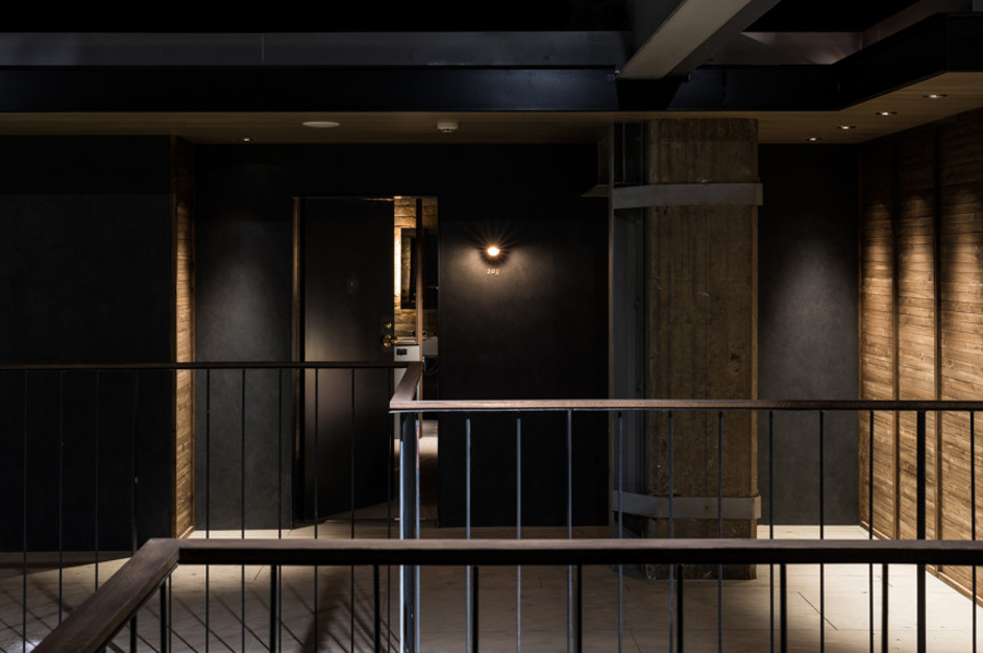 Interior signage designed by UMA for U2's Onomichi based Hotel Cycle
