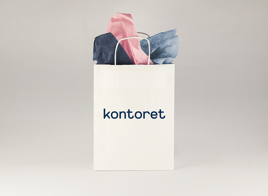 Logo and bag designed by Werklig for Helsinki, by the hour, office space provider Kontoret