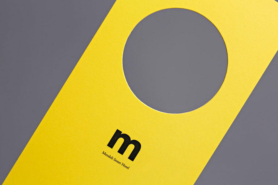 Door hanger created for Tel aviv hotel Mendeli Street designed by Koniak