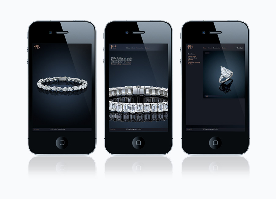 Website for jewellers Phillip Boulding by Stylo