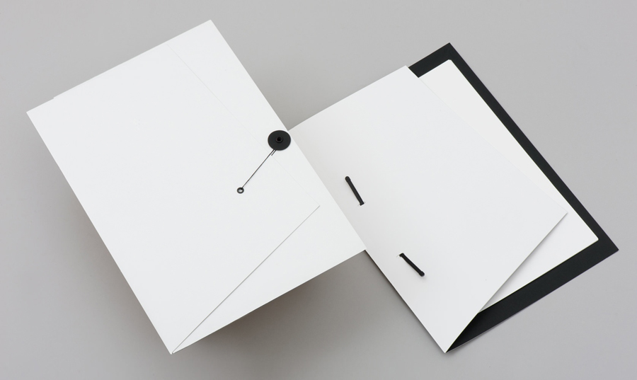 Folder with angle cut detail for gallery and creative space Sifang Art Museum, designed by Foreign Policy