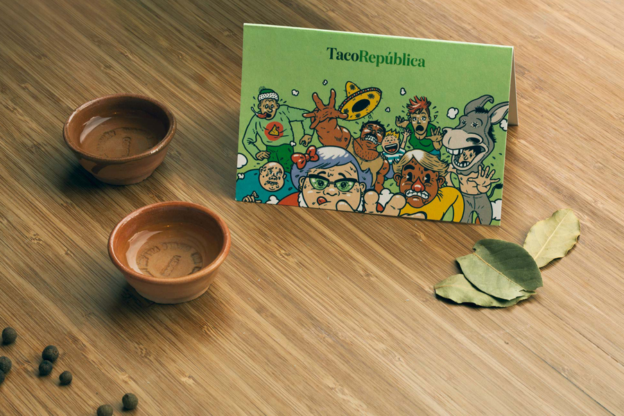 Print with illustrative detail by Uglylogo for Taco República by Bielke+Yang