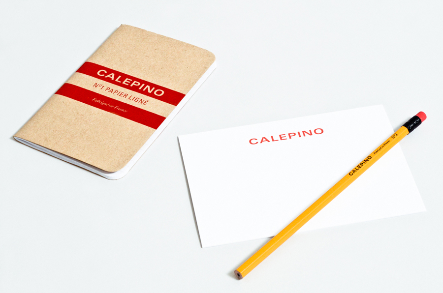 Logo, notebook and stationery design by Studio Birdsall for French notebook brand and manufacturer Calepino