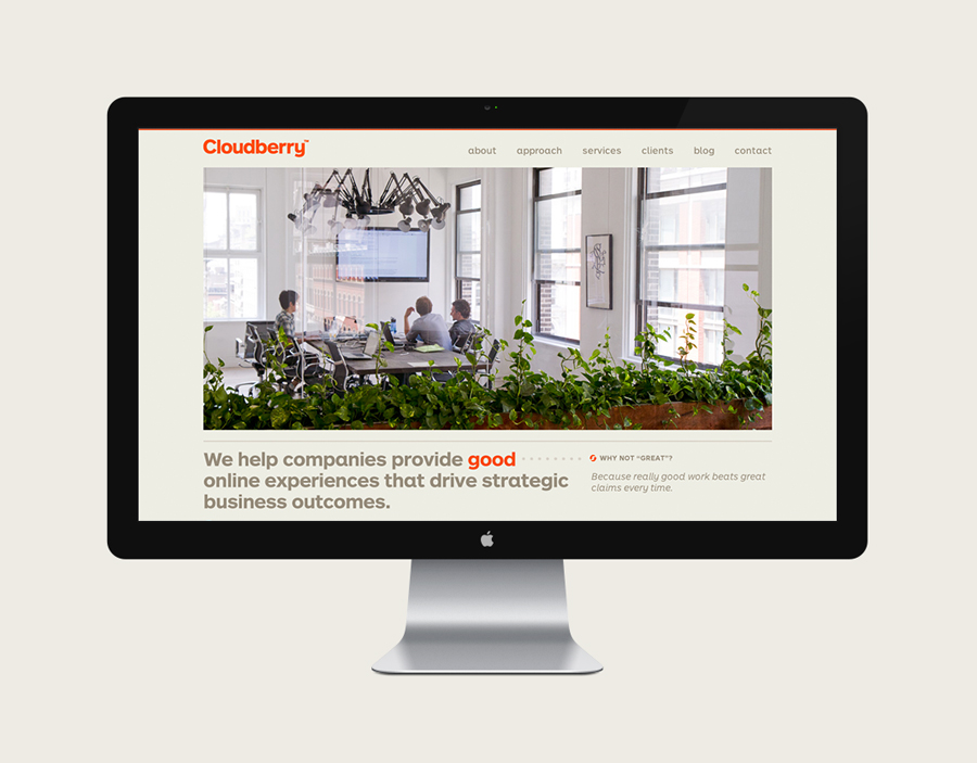 Brand identity and website designed by Perky Bros for Cloudberry
