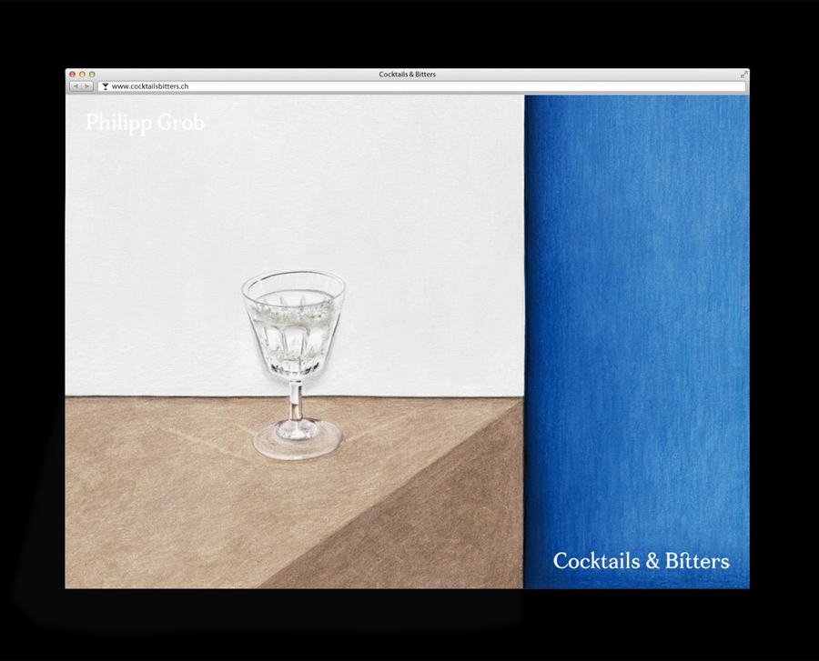 Logo and web design by Bureau Collective for Swiss bartender Philipp Grob