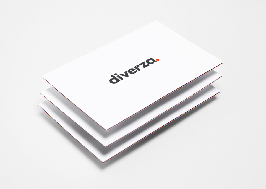Logo and business card for Mexican on-line, electronic invoicing service provider Diverza designed by Face Creative