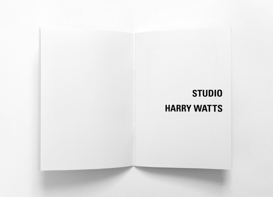 Print designed by Birch for British photographer Harry Watts