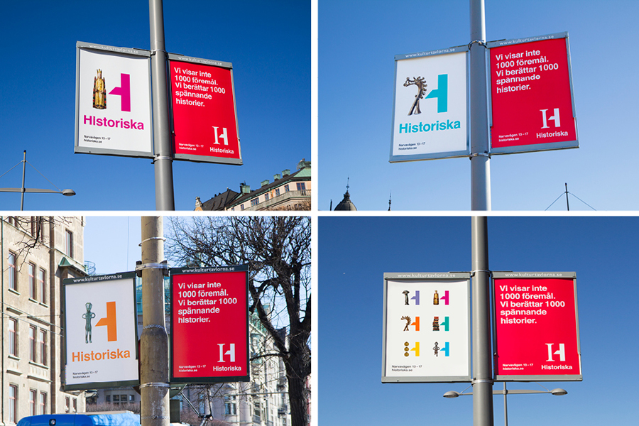 Advertising for the Swedish History Museum designed by Bold