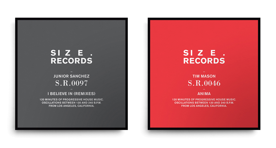 Brand identity and CD cover design by Face for Steve Angello's independent record label Size