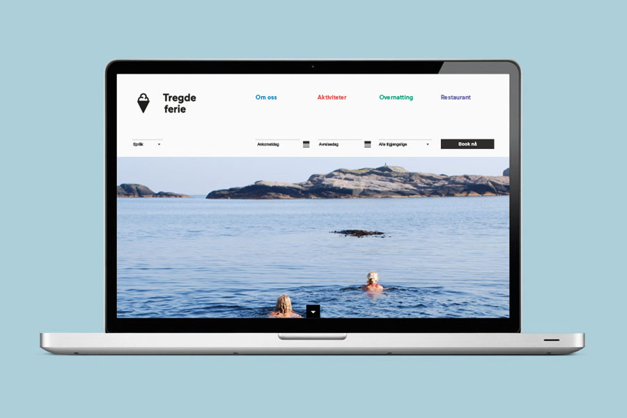 Logo, iconography and website designed by Neue for Norwegian coastal holiday resort Tregde Ferie