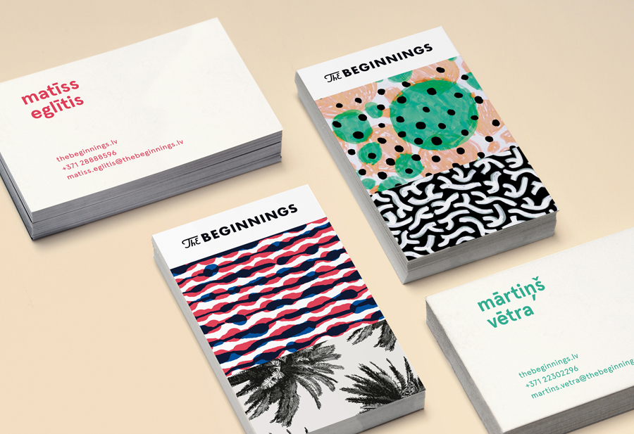 Logo, brand identity and illustrative packaging by Asketic for raw food and ingredients business The Beginnings.