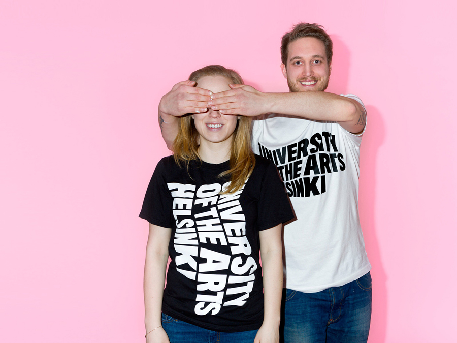 T-shirts designed by Bond for the University of the Arts Helsinki