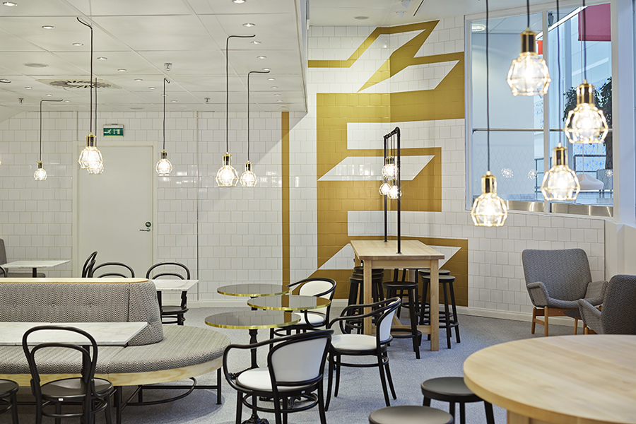 Interior for Helsinki-based Fazer Cafe designed by Kokoro & Moi and Koko 3