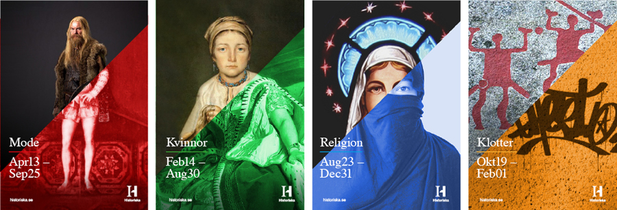 Exhibition posters for the Swedish History Museum designed by Bold