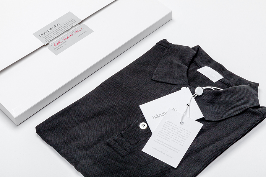 Packaging and tags designed by Savvy for fashion brand Handvaerk